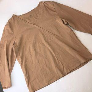 Woman's J.Jill blouse longsleeve Sz. L Color brown